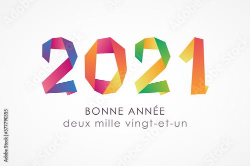 Fototapeta Bonne année 2021 - Carte de voeux obraz