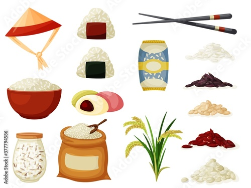 Foto Grained rice vector