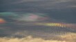 View of the Iridescent clouds in the sky