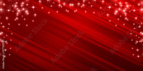 Fototapeta クリスマス 光 赤 背景
