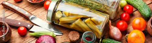 Obraz Assortment of pickled vegetable - fototapety do salonu
