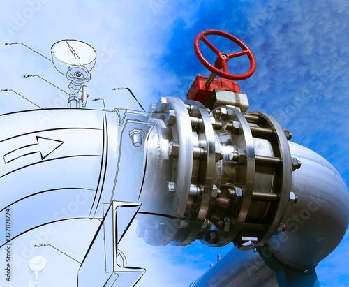 Fototapeta pipeline design conception obraz