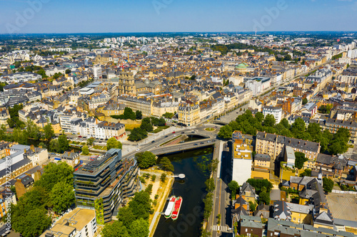 Fotografering Scenic view of the city of Rennes in the Brittany region. France