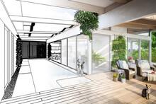 Luxury Residential Villa Terrace Design (illustation) - 3d Visualization