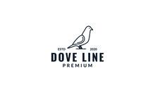 Dove Bird Minimalist Line Stan...