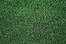 Saturated Green Fabric Texture.