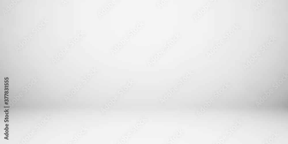 Fototapeta Empty gray color studio room background, can use for background and product display. Banner for advertise product
