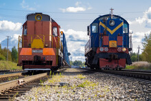 Train. Old Diesel Locomotive O...