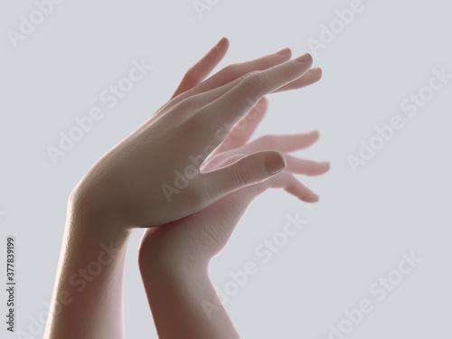 delicate female hands Canvas Print