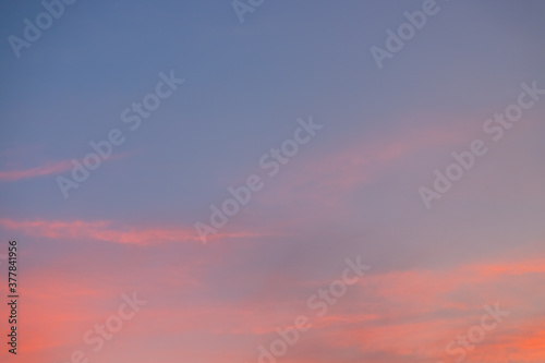 Fototapety, obrazy: sky and cloud in bright rainbow at sunset