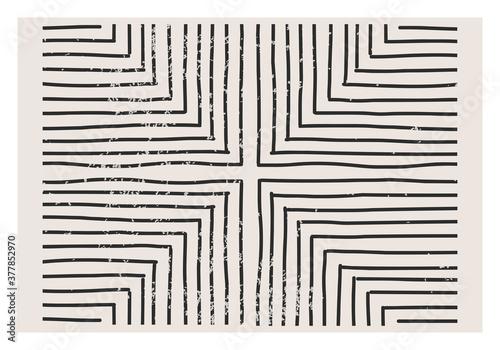 Fototapeta Trendy abstract aesthetic creative minimalist artistic hand drawn composition obraz
