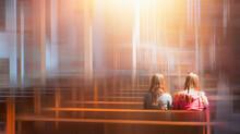 People Praying In A Church  - ...