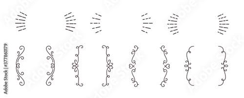 Photo ラフな線 シンプル おしゃれ 装飾 飾り罫 見出し囲み ベクター フレーム