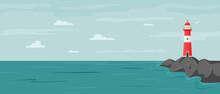 Peaceful Seaside Landscape Wit...