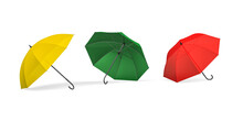 Three Umbrellas, Red, Yellow A...