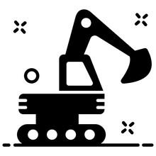 Editable Style Of Excavator, ...