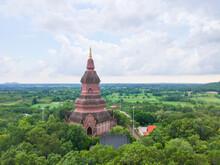PHRA BUDDHA SAIYAT PHUKHAO Temple Attraction Of The Kalasin Province In Thailand.