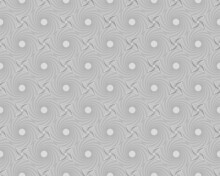 Seamless Grey Pattern With Elements