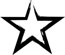 Grunge Stars Collection. Vecto...