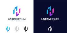 Letter H Monogram Logo Design ...