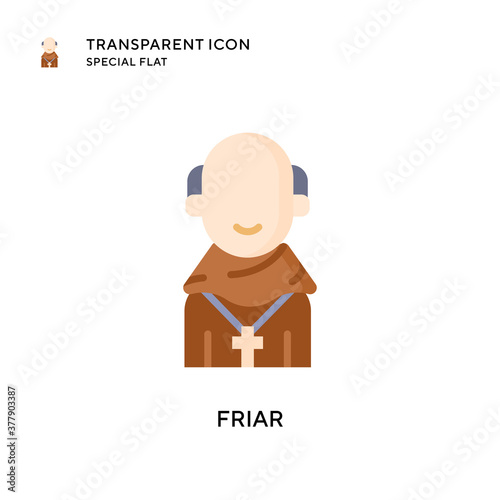 Fotografie, Obraz Friar vector icon. Flat style illustration. EPS 10 vector.