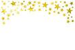 canvas print picture - Gelbes grunge Sternenmuster mit Schwung und Textfreiraum