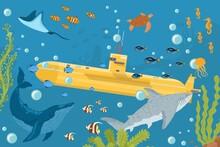 Yellow Submarine Undersea Boat...