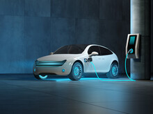 A Futuristic Electric Car Is C...