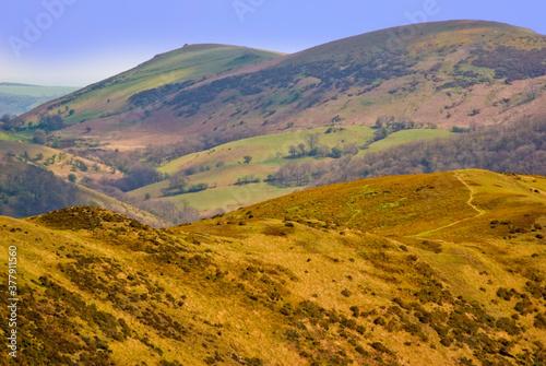 Fototapeta Scenic Landscape Rift Valley Long Mynd Shropshire England UK obraz na płótnie