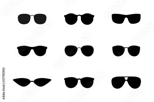 Carta da parati Sunglasses black silhouette