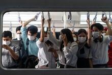 Crowd Of Passengers On Urban P...