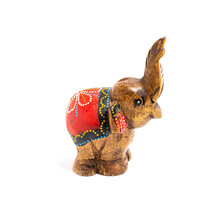Figurine Of A Wooden Elephant ...