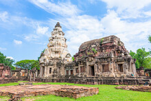 Prasat Hin Phanomwan Architectural Archaeological Sites In Ancient Khmer Beliefs Built Around The 16th-17th Century As A Temple Later It Was Converted To A Buddhist Temple In Nakhon Ratchasima, Thaila