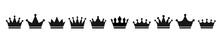Crown Set Icon . Vector Illust...
