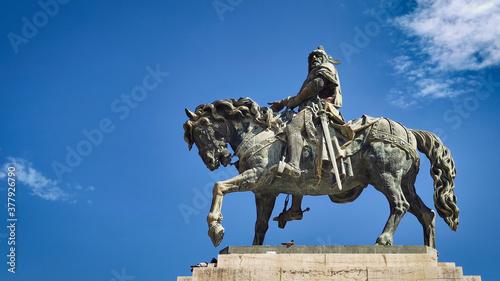 Estatua ecuestre al rey Jaime I el Conquistador en Valencia Fototapete