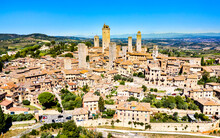 Aerial View Of San Gimignano T...