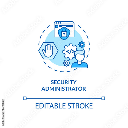 Tela Security administrator concept icon