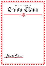 Santa Letterhead Template Clipart Image