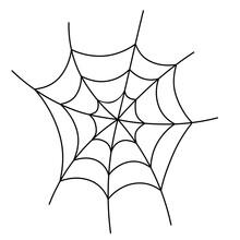 Spider Web Icon. Clipart Image...