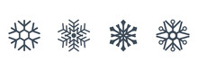 Vector Set Of Blue Snowflakes ...