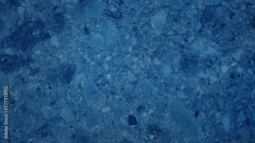 luxury blue stone tile with large terrazzo texture background (Natural pattern for backdrop or background) Canvas