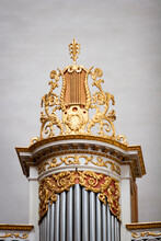 Organfront In Cathedral With D...