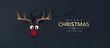 Leinwandbild Motiv Reindeer toy with cold red nose Christmas background concept 3D Rendering