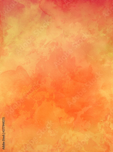 Fototapety pomarańczowe  old-orange-paper-background-with-watercolor-stains-and-vintage-texture-in-elegant-autumn-or