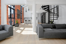 Modern Loft Apartment With Brick Walls