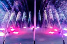 City Decorative Fountain At Ni...