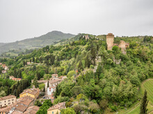 Brisighella, Ravenna, Emilia Romagna, Italy: The Fortress. The Fortress, The Clock Tower And Monticino Church Charaterize The Landscape For Wich Brisighella Is Famous.