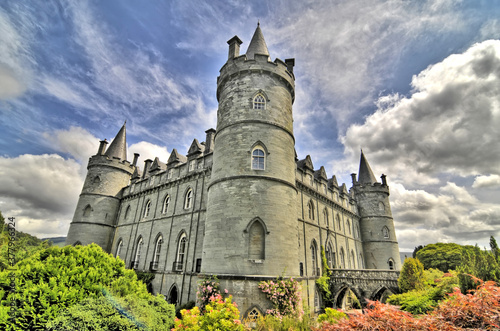 Inveraray Castle -  a country house near Inveraray in the county of Argyll, in western Scotland Canvas Print