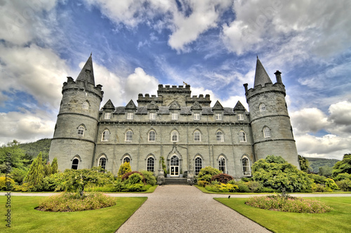 Inveraray Castle -  a country house near Inveraray in the county of Argyll, in western Scotland Wallpaper Mural