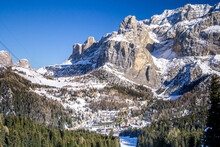 View Of Dolomites Mountains In...